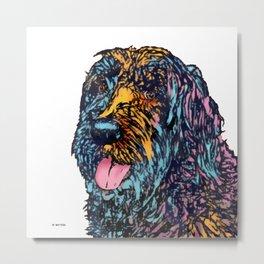 Big Mixed Breed Dog Metal Print