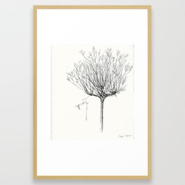 My favorite Tree with a hanging Baloon Framed Art Print