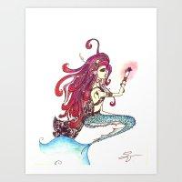 The Sad Sad Mermaid Art Print