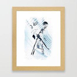 Double Bassist Framed Art Print