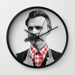 Hipster Nietzsche Wall Clock