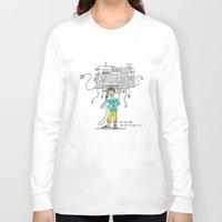 bill Long Sleeve T-shirts featuring Electricity Bill by Jyoti Khetan