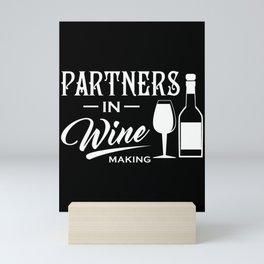 Wine partner winemaker wine glass Mini Art Print