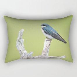 Perched Tree Swallow Rectangular Pillow