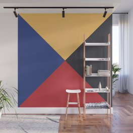 Primary Colors Triangles Wall Mural