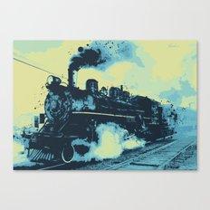Morning train 1946 Canvas Print