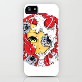 The deadly beauty of roses  iPhone Case