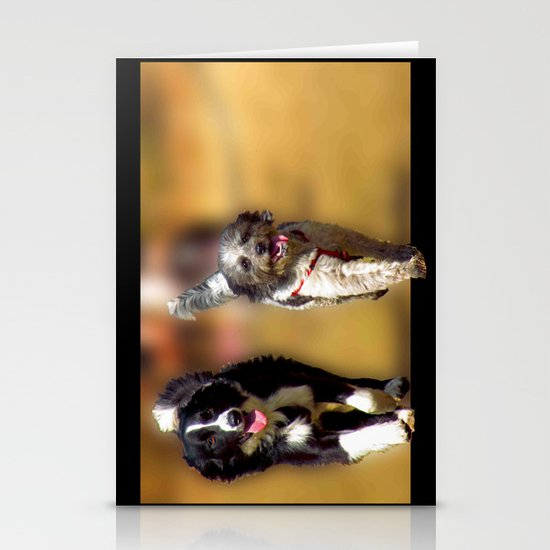 two dogs Stationery Cards