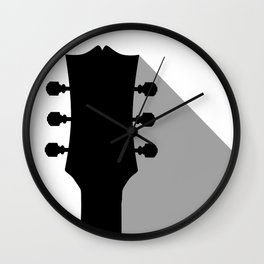 Guitar Headstock With Shadow Wall Clock
