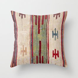 Arcade Star Kilim // 17th Century Colorful Muted Lime Green Southwest Cowboy Ornate Accent Pattern Throw Pillow