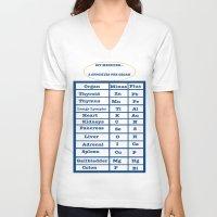 medicine V-neck T-shirts featuring DIY Medicine by GroveCanada