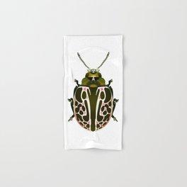 Green, White, Pink Beetle Hand & Bath Towel