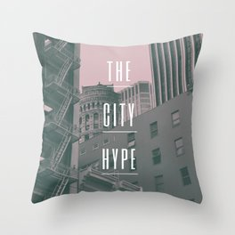 The City Hype 2 Throw Pillow