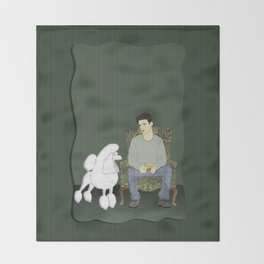 Meet the Poodle Throw Blanket