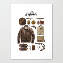The Stuff Of Legends: Indy Canvas Print