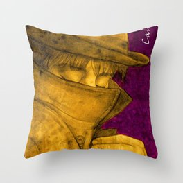 Pete, Slimane and me. Throw Pillow