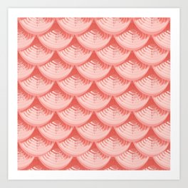 Fish scales | Living Coral Art Print