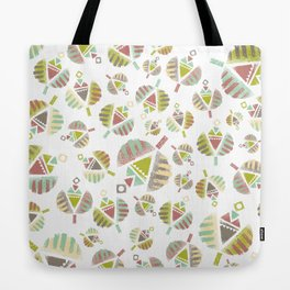 Abstract Retro Flowers Tote Bag