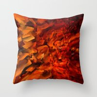 blood Throw Pillows featuring Blood by Paul Kimble