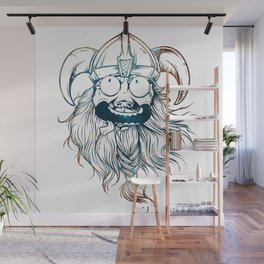 Vintage Great Beards - Crazy Viking Wall Mural