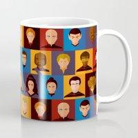picard Mugs featuring STARFLEET by badOdds