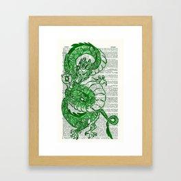 The Jade Dragon (Green Lantern: Kyle Rayner) Framed Art Print