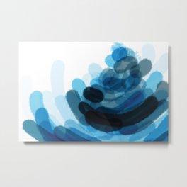 Sea Glass Stone Stack Abstract Metal Print
