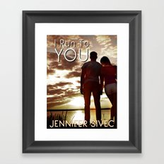 I Run to You-book cover by Brenda Gonet Framed Art Print