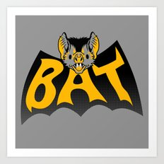 bat in a batshape Art Print