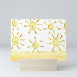 happy sunshine Mini Art Print