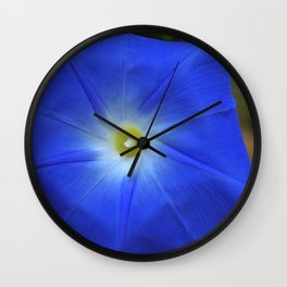Blue, Heavenly Blue morning glory Wall Clock