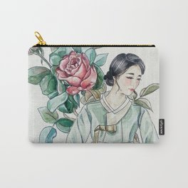 Roses (Hanbok girls) Watercolor Carry-All Pouch