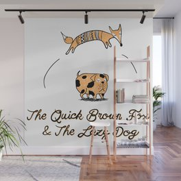 Quick brow fox Wall Mural