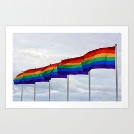 Pride Flags Art Print