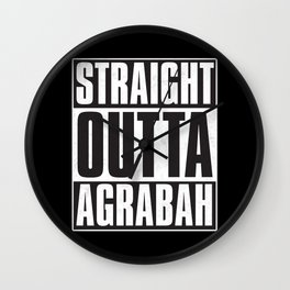 Straight Outta Agrabah Wall Clock