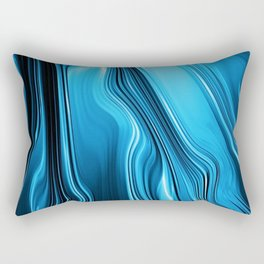 Streaming Deep Blues Rectangular Pillow