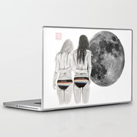 dark side Laptop & iPad Skins featuring The Dark Side by Bryan James
