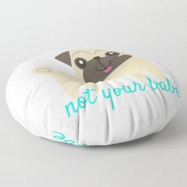 Feminist Pug Floor Pillow