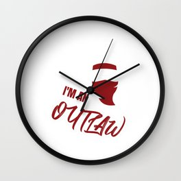 Wild West Collectables An Outlaw Old West Shirt Wall Clock