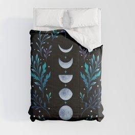 Moonlight Garden - Blue Comforters