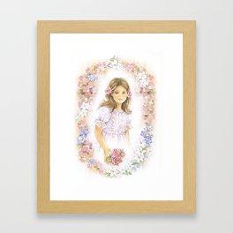 First holy communion for girl Framed Art Print