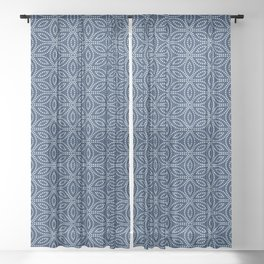 Winter Pattern I Sheer Curtain