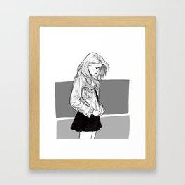 Heavy Metal Heart - Sky Ferreira illustration portrait Framed Art Print