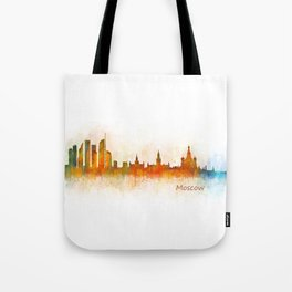 Moscow City Skyline art HQ v3 Tote Bag