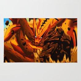 kyuubi angry Rug