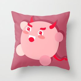 The cutest evil demon ever! Throw Pillow