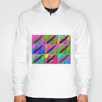 led zeppelin Hoodies featuring Zeppelin Warhol by Sara PixelPixie