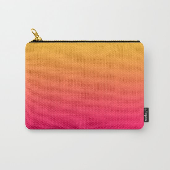 Hot Pink / Golden Heart Gradient Colors Carry-All Pouch