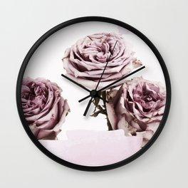 ROSE TRIO Wall Clock