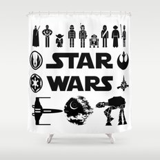 Star Characters Wars Shower Curtain